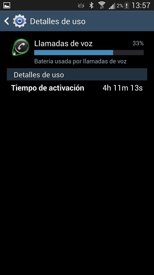 Duración Batería Samsung Galaxy S4 4