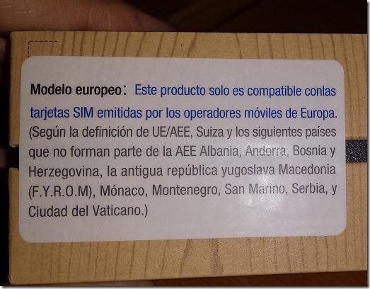 Samsung Galaxy Note 3 aviso región