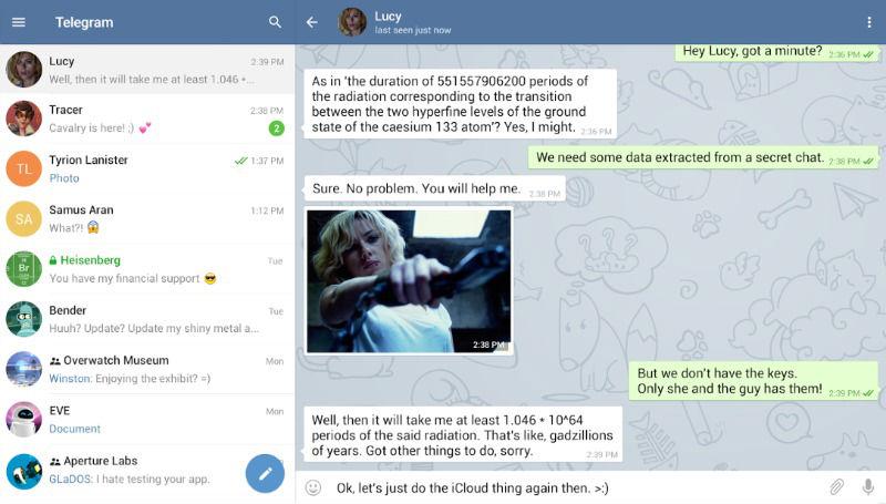 Telegram versión escritorio (desktop)