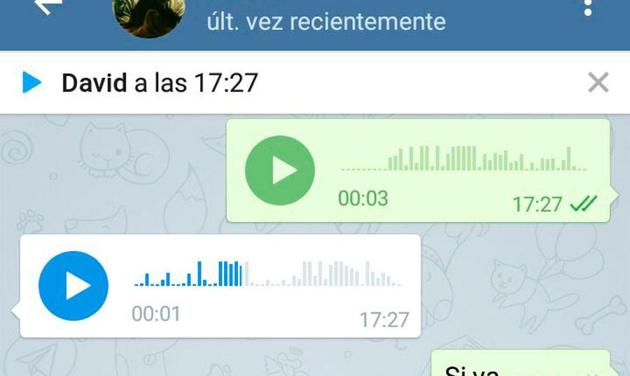 Telegram 3.5 notas voz