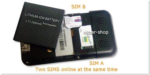 móvil dual sim foto posterior