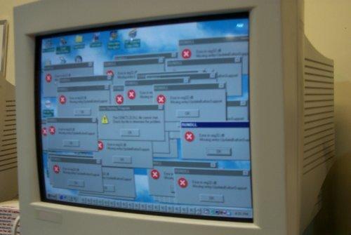Foto de múltiples errores en Windows